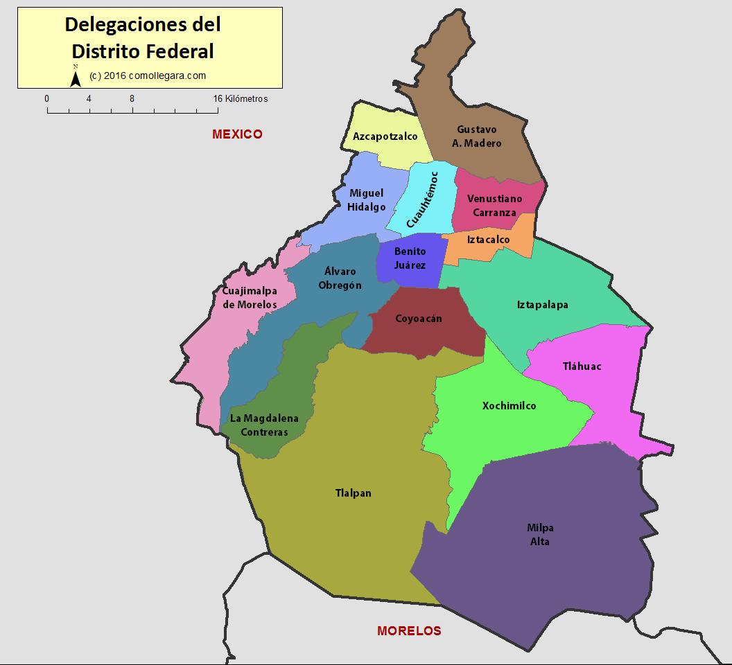 Mapa De Mexico Df Newhairstylesformen2014 Com